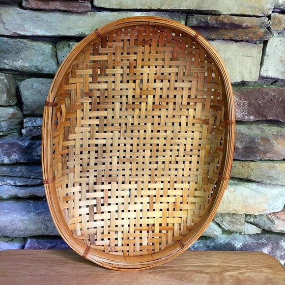 Vintage Wicker Basket Boho Wall Art